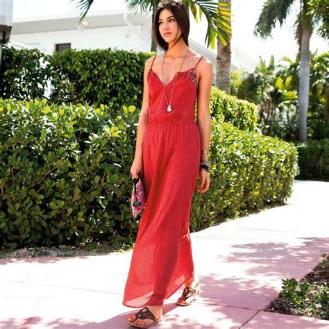 robe longue sans manche femme couleurs d ete la redoute mode robes manche and