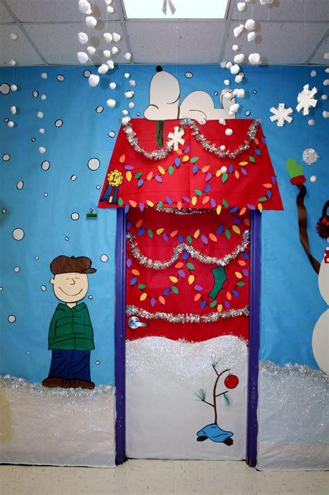 Snoopy Classroom Door Decorations fouke kindergarten brown classroom door library