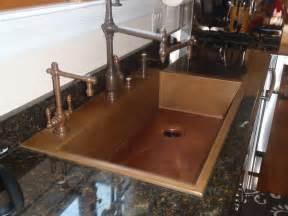 Undermount Bar Sink White by Kitchen Handcrafted Copper Accent Kitchen Design