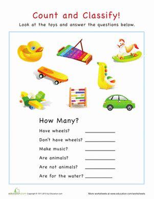 categorization   toys tutoring preschool