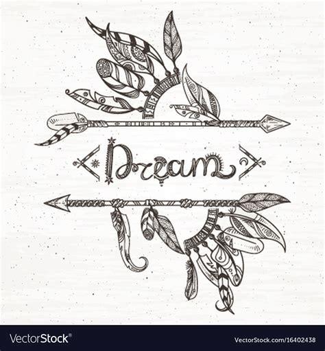 tribal feathers  arrow hand drawn royalty  vector