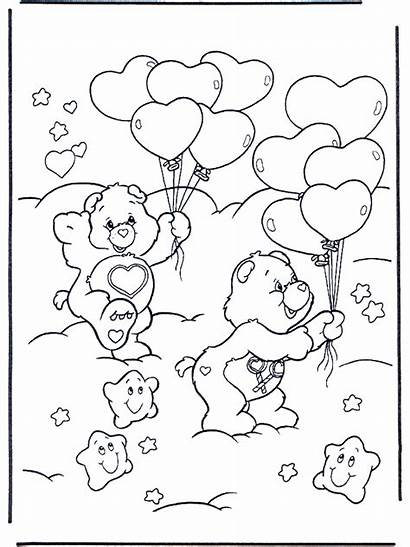 Care Bears Coloring Valentine Walentynkowe Pages Obrazki