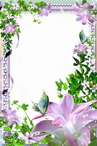 Beautiful Transparent Photo Frame with Flowers   Gallery ...