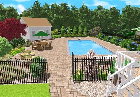landscape design for pool areas images