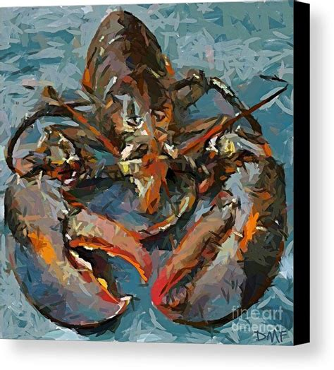 lobster canvas print canvas by dragica micki fortuna