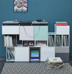 Meuble Pour Ranger Papier : 40 meubles pour ranger des vinyles ~ Teatrodelosmanantiales.com Idées de Décoration