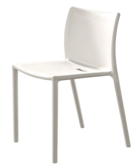 4 pied 4 chaise air chair stacking chair polypropylene white by magis