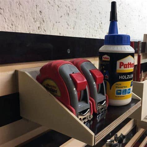 tool storage garage tape measure power holder diy organized tools nextluxury organization workshop cool designs tweet hand quality plans