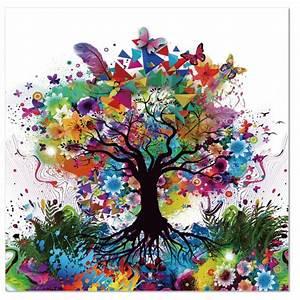 Arbre De Vie Deco : tableau verre acrylique arbre de vie ~ Dallasstarsshop.com Idées de Décoration