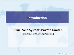 Blue Zone Systems Pvt Ltd Introduction