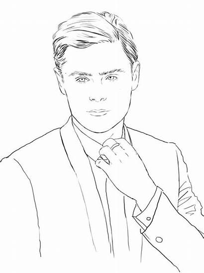 Coloring Zac Efron Celebrity Pages Books Adult