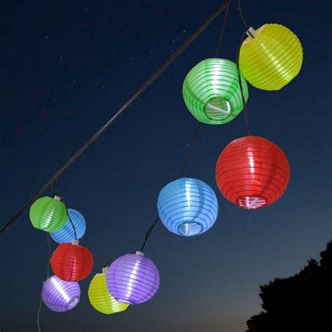 Solar Lampion Lichterkette  Bunt Lampion Real