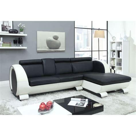 h et h canapé canapé d 39 angle droit cuir 4 places 190x165x90 cm