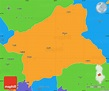 Political Simple Map of Elbasan