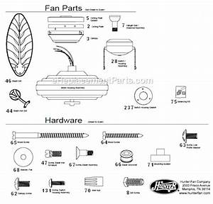 Hunter Fan Parts 85112  Pocket Fan Online India