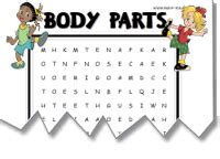 vocabulary worksheets body parts