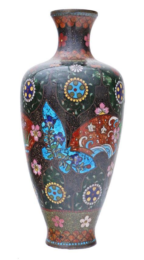 japanese cloisonne vase 19th century japanese cloisonne vase 4347b la35829