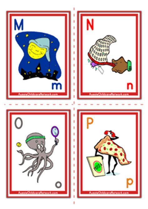 alphabet flashcards objects aussie childcare network