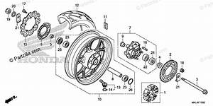 Honda Motorcycle 2019 Oem Parts Diagram For Rear Wheel