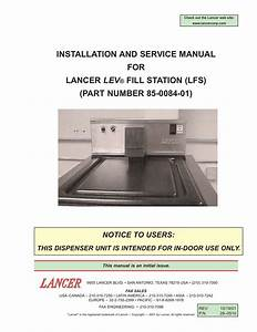 Installation And Service Manual For Lancer Lev U00ae Fill