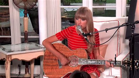 Taylor Swift - Acoustic 'Treacherous' from RED Album - YouTube