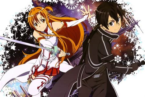 Sword Art Online Sao Kirito Asuna Poster My Hot Posters