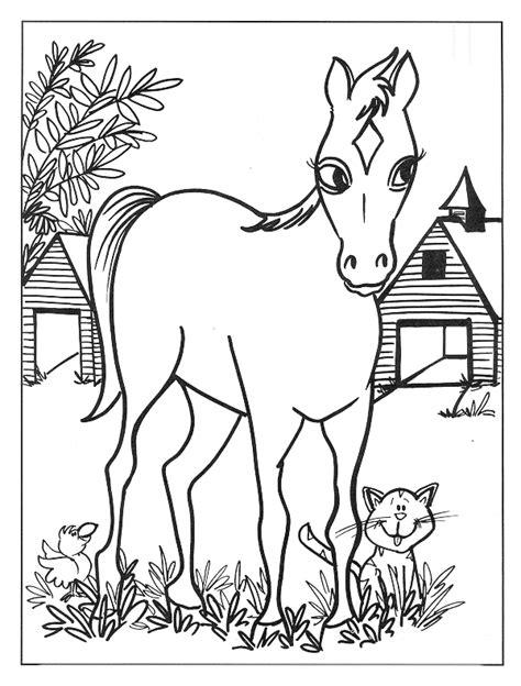 Kleurplaat Sierlijk by Kleurplatenwereld Nl Gratis Dieren Paarden Kleurplaten
