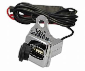New Pyle Plmca64 600w Motorcycle Amp 2 25 U0026quot  Speakers Usb