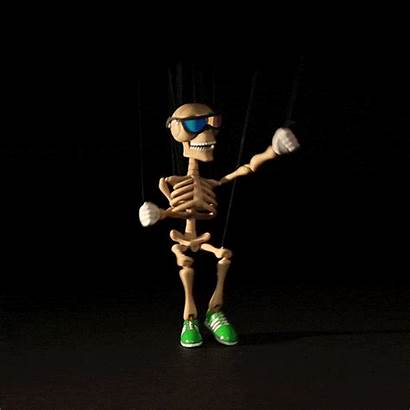 Halloween Gifs Excited Jump Around Giphy Skeleton