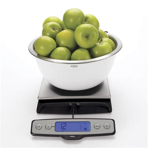 oxo cuisine oxo grips stainless steel food scale with pull out