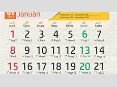 Download Template Almanak 2017 Plus Kalender hijriyah 1438