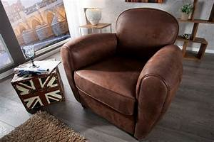 fauteuil cabriolet moderne pour un confort moelleux With tapis moderne avec canapé club cuir vieilli marron