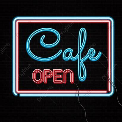Cafe Open Neon Brick Teken Bakstenen 2502
