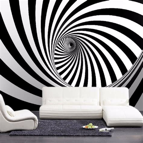 custom modern abstract artistic wall mural wallpaper black