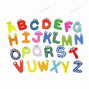 LalaCool Guaranteed! Cute Set 26 Letters Alphabet Wooden