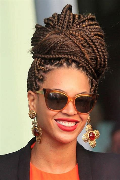 17 box braid updo hairstyle ideas designs design