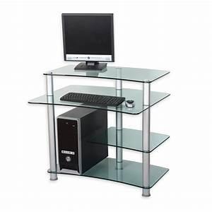 Meuble Pour Verre : meuble ordinateur verre maison design ~ Teatrodelosmanantiales.com Idées de Décoration