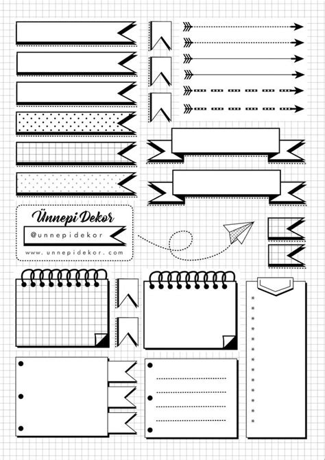 bullet journal printable bullet journal ideas pages