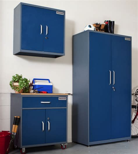 garage storage units furniture stand alone gray metal low garage cabinets with