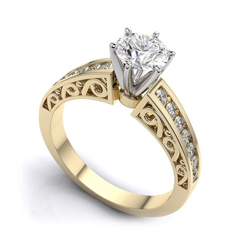 yellow gold vintage engagement rings wedding promise