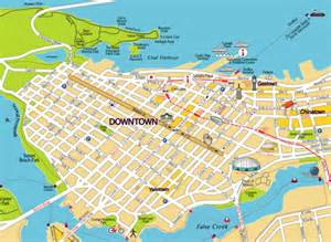 Downtown Vancouver Map