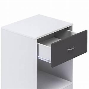 Table De Chevet Etroite : tables de chevet blanches maison design ~ Teatrodelosmanantiales.com Idées de Décoration