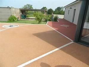 terrasse en beton colore vente et pose de revetements With beton couleur pour terrasse