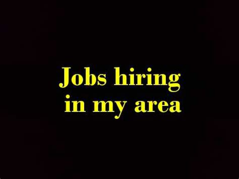 In My Area hiring in my area
