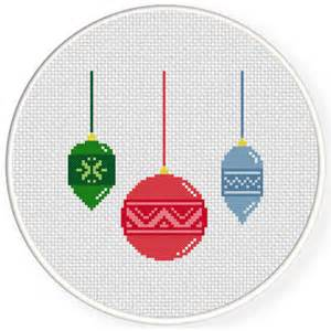 charts club members only christmas ornaments cross stitch pattern daily cross stitch