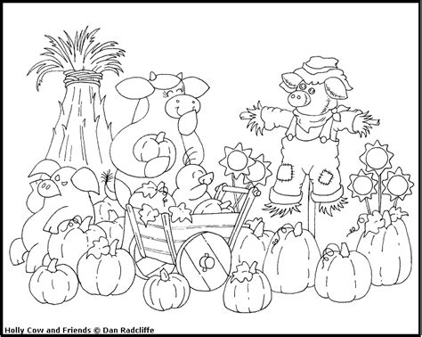 Harvest Coloring Pages Cow S World Happy Birthday To Me