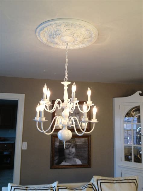 brass chandelier painted white things i