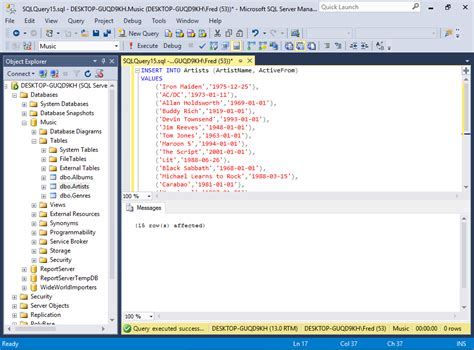 sql insert into new table sql server 2016 insert data