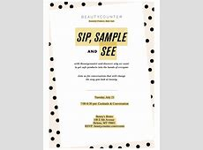 Sip, Sample and See with Beautycounter 07212015 Helena
