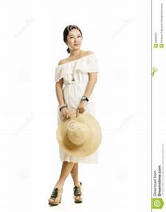 Beautiful Full Body Asian Woman Portrait Royalty Free ...